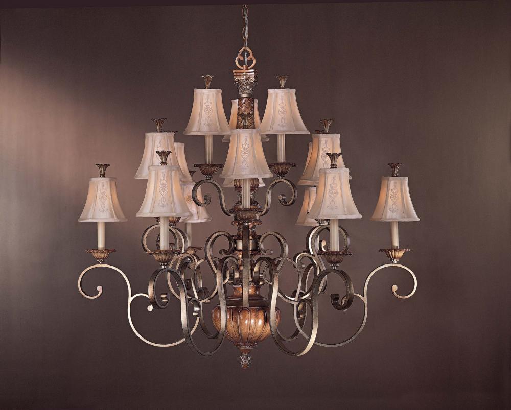 Fifteen light wood up chandelier 1368 196c premier quality fifteen light wood up chandelier mozeypictures Image collections