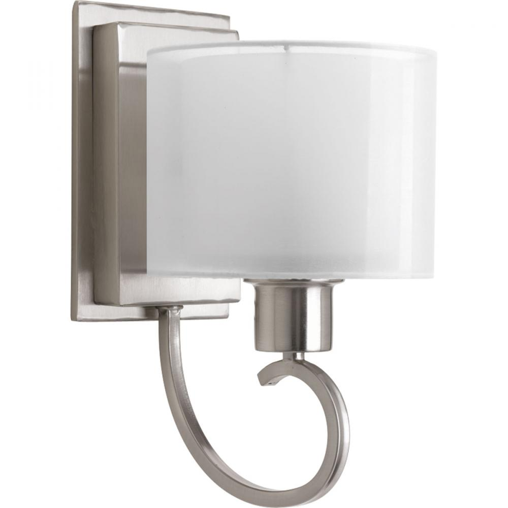 brushed nickel bathroom sconces