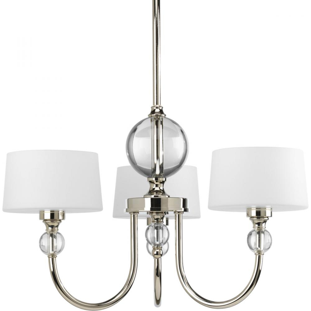 Polished nickel drum shade chandelier chandelier designs 3 lt polished nickel chandelier p4673 104 premier quality mozeypictures Images