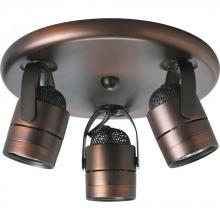 Progress P6153-174WB - Three-Light Multi Directional Pinhole Back Wall/Ceiling Fixture