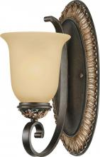 Volume Lighting V2291-82 - Bristol 1-light Vintage Bronze with Antique Gold Bathroom Sconce