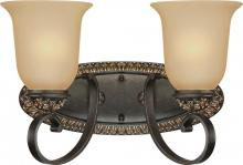 Volume Lighting V2292-82 - Bristol 2-light Vintage Bronze with Antique Gold Bathroom Vanity