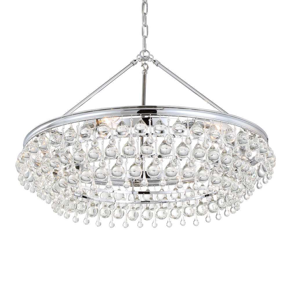 Crystorama Calypso 6 Light Crystal Teardrop Chrome Chandelier  sc 1 st  Premier Quality Electrical Supplies & Crystorama Calypso 6 Light Crystal Teardrop Chrome Chandelier : 275 ...