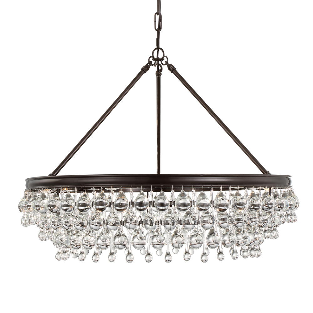 Crystorama Calypso 6 Light Crystal Teardrop Bronze Chandelier  sc 1 st  Premier Quality Electrical Supplies & Crystorama Calypso 6 Light Crystal Teardrop Bronze Chandelier : 275 ...