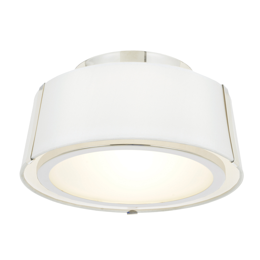 Fulton 2 Light Polished Nickel Ceiling Mount