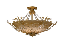 Crystorama 4707-GL - Crystorama Primrose 6 Light Faceted Crystal Gold Semi-Flush IV