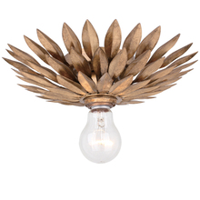 Crystorama 500-GA_CEILING - Crystorama Broche 1 Light Antique Gold Ceiling Mount