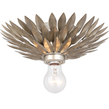 Crystorama 500-SA_CEILING - Crystorama Broche 1 Light Antique Silver Ceiling Mount