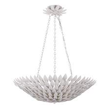 Crystorama 517-MT - Crystorama Broche 6 Light Matte White Pendant Chandelier