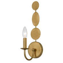 Crystorama 541-GA - Layla 1 Light Antique Gold Sconce