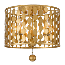 Crystorama 544-GA - Layla 3 Light Antique Gold Ceiling Mount