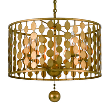 Crystorama 545-GA - Layla 5 Light Antique Gold Chandelier