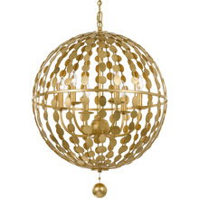 Crystorama 547-GA - Crystorama Layla 6 Light Antique Gold Chandelier