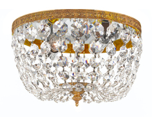 Crystorama 708-OB-CL-I - 2 Light Clear Italian Crystal Olde Brass Ceiling Mount