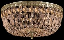 Crystorama 712-AG-GT-MWP - 3 Light Golden Teak Hand Cut Chrome Ceiling Mount
