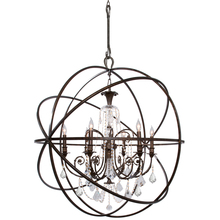 Crystorama 9219-EB-CL-MWP - Crystorama Solaris 6 Light Crystal Bronze Sphere Chandelier II