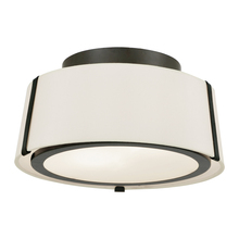 Crystorama FUL-903-BK - Fulton 2 Light Matte Black Ceiling Mount