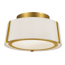 Crystorama FUL-903-GA - Fulton 2 Light Gold Ceiling Mount