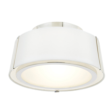 Crystorama FUL-903-PN - Fulton 2 Light Polished Nickel Ceiling Mount