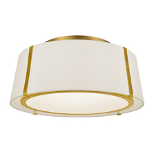 Crystorama FUL-905-GA - Fulton 3 Light Gold Ceiling Mount