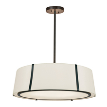 Crystorama FUL-907-BK - Fulton 6 Light Matte Chandelier