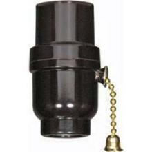 Satco Products Inc. 80/1638 - Brass 3-Way Pull Chain 1/8 IP Cap w/Metal Bushing Less Set  Screw