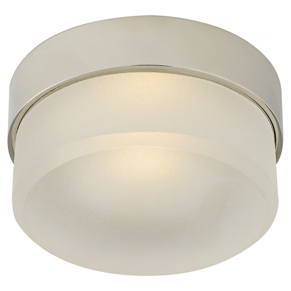 "Barton 4"""" Flush Mount in Polished Nicke"