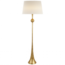 Visual Comfort ARN 1002G-L - Dover Floor Lamp in Gild with Linen Shade