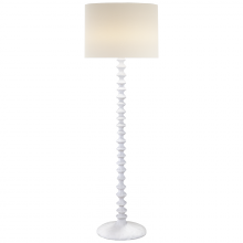 Visual Comfort ARN 1070PW-L - Lilian Floor Lamp in Plaster White with Linen Sh