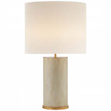 Visual Comfort ARN 3013BT-L - Eliot Table Lamp in Bone Tile with Linen Shade