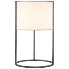 Visual Comfort BBL 3110BZ-S - Framework Desk Lamp in Bronze with Silk Shade