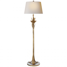 Visual Comfort CHA 9722GI-NP - Palm Leaf Floor Lamp in Gilded Iron with Natural