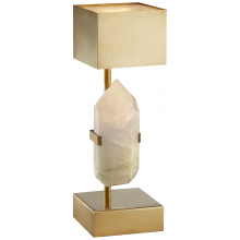 Visual Comfort KW 3091Q-AB - Halcyon Desk Lamp in Natural Quartz and Brass wi