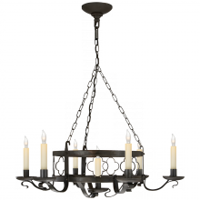 Visual Comfort SK 5102AI - Margarite Iron Chandelier in Aged Iron