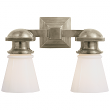 Visual Comfort SL 2152AN-WG - New York Subway Double Light in Antique Nickel w