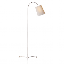 Visual Comfort TOB 1021PN-NP - Mia Floor Lamp in Polished Nickel with Natural P