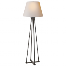 Visual Comfort TOB 1155AI-NP - Hannah Floor Lamp in Aged Iron with Natural Pape