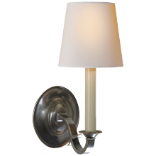 Visual Comfort TOB 2120BZ-NP - Channing Single Sconce in Bronze with Natural Pa