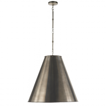Visual Comfort TOB 5014AN-AN - Goodman Large Hanging Lamp in Antique Nickel wit