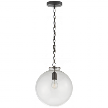 Visual Comfort TOB 5226BZ/G4-CG - Katie Globe Pendant in Bronze with Clear Glass