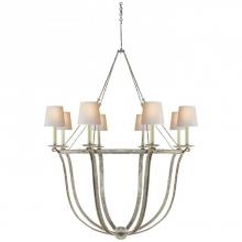 Visual Comfort CHC 1577OW-NP - Lancaster Chandelier in Old White with Natural P