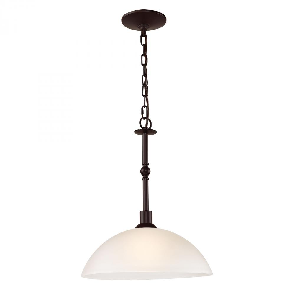Jackson 1 Light Large Pendant In Oil Rubbed Bron