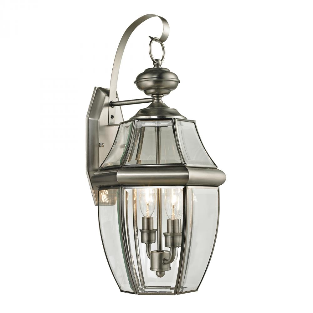 Ashford 2 Light Exterior Coach Lantern In Antiqu