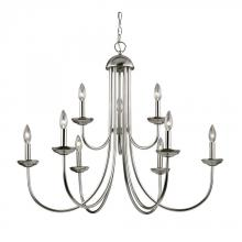 Elk Cornerstone 1529CH/20 - Williamsport 9 Light Chandelier In Brushed Nicke