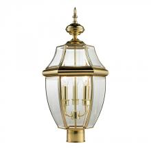 Elk Cornerstone 8603EP/85 - Ashford 3 Light Exterior Post Lantern In Antique