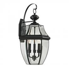 Elk Cornerstone 8603EW/60 - Ashford 3 Light Exterior Coach Lantern In Black