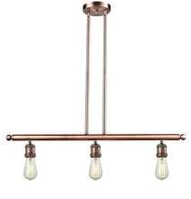 Innovations Lighting 213-AC - Bare Bulb 3 Light Island Adjustable Stem Chandelier