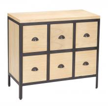Sterling Industries 150-021 - 6 Drawer Chest With Iron Frame