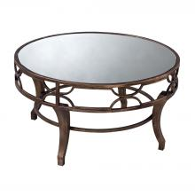 Sterling Industries 6043728 - Treviso Coffee Table In Antique Gold Washed Metal