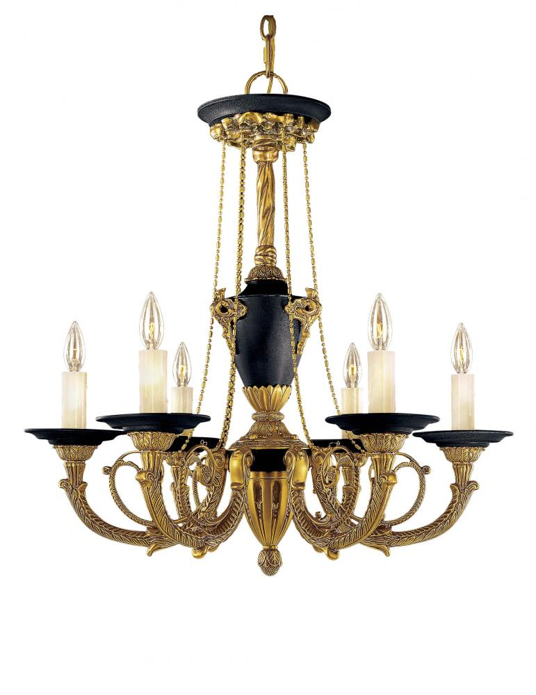 Gold dore gold w black accents up chandelier n6425 gd premier gold dore gold w black accents up chandelier aloadofball Image collections